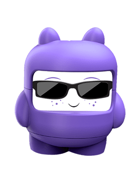 Purple cool finny Fintune