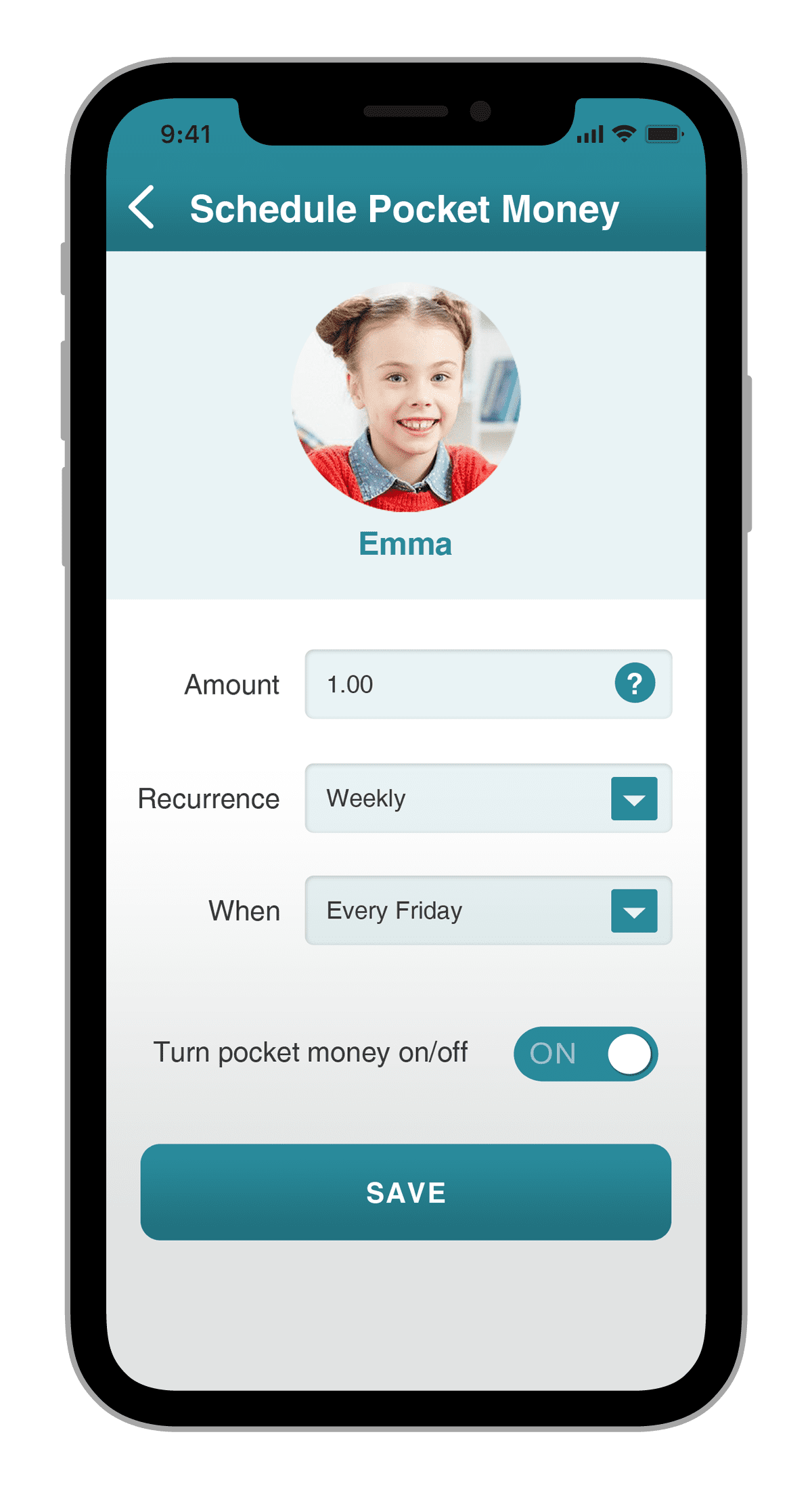 ParentsApp PocketMoney fintune
